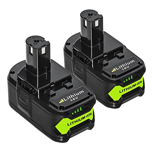 LiBatter (2 packs) 18V 5,0Ah Li-ion Remplacement de Batterie Pour Ryobi 18V ONE+ Lithium+ RB18L15 RB18L25 RB18L40 RB18L50 P102 P103 P104 P105 P107 P108 P122 Outils Sans Fil