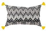 Dekokissen Tribe - 30x50- 100% Baumwolle - Inklusive Füllung aus Polyester - mit Pompons (Schwarz...