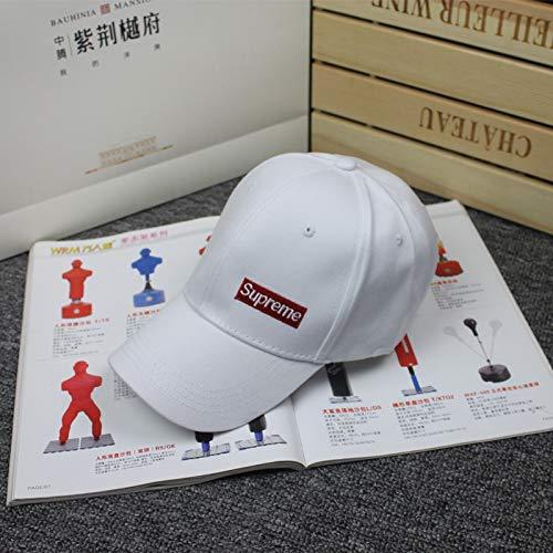 mlpnko Outdoor Visier Damen Casual Baseball Cap Buchstaben gestickte Kappe Persönlichkeit Straße Hut weiß einstellbar