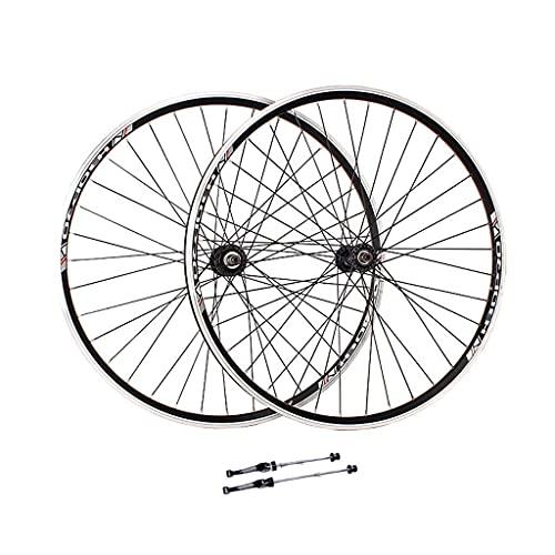 LYTBJ Juego de Ruedas de Bicicleta V-Brake 26 Pulgadas, Doble Pared, aleación de Aluminio, MTB, Ruedas de Ciclismo, llanta de liberación rápida, 32 Orificios, 6/7/8 velocidades