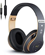6S Wireless Headphones Over Ear, Hi-Fi Stereo Foldable Wireless Stereo Headsets Earbuds with Built-in Mic,Volume Control, ...