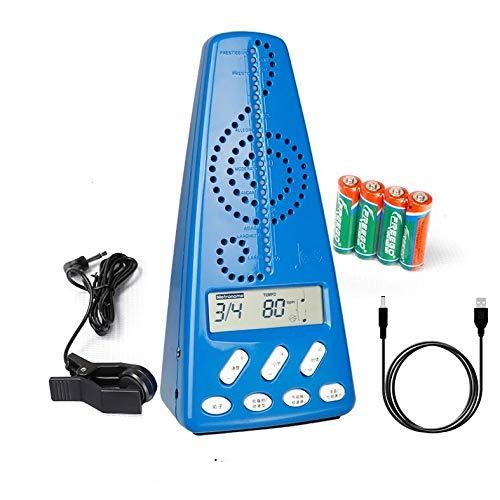 Metrónomo Afinador, Metrónomo Digital, Afinador Cromático, Para Piano, Bajo, Batería, Violín Y Otros Instrumentos (F)