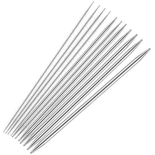 Chstarina 55 Pièces Ensemble d'Aiguilles à Tricoter, Aiguilles à Tricoter Double pointe en Acier Inoxydable, Tissage d'outils pour Débutants et Professionnels, 11 Taille: 2mm-6.5mm