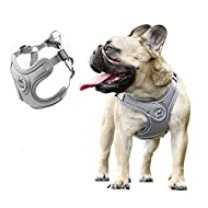 Anlitent No Pull Dog harness for Medium Dogs, Back Control Quick Release Dog Tactical Harnesses with...