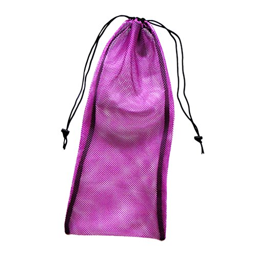 MagiDeal Netztasche Mesh Bag für Tauchen Schnorcheln Schwimmen Ausrüstung wie Flossen Tauchschuhe Maske Tragetasche - Lila