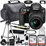 Nikon D3500 DSLR Camera with 18-55mm Lens Bundle (1590) + Accessory Kit Including 64GB Memory, UV Filter, Camera Case & More