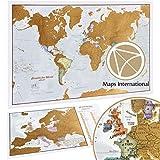 Mappa del Mondo da Grattare e idee regalo + Offerta Gratuita una Mappa dell'Europa da grattare - Maps International: Da più di 50 anni nel settore delle mappe
