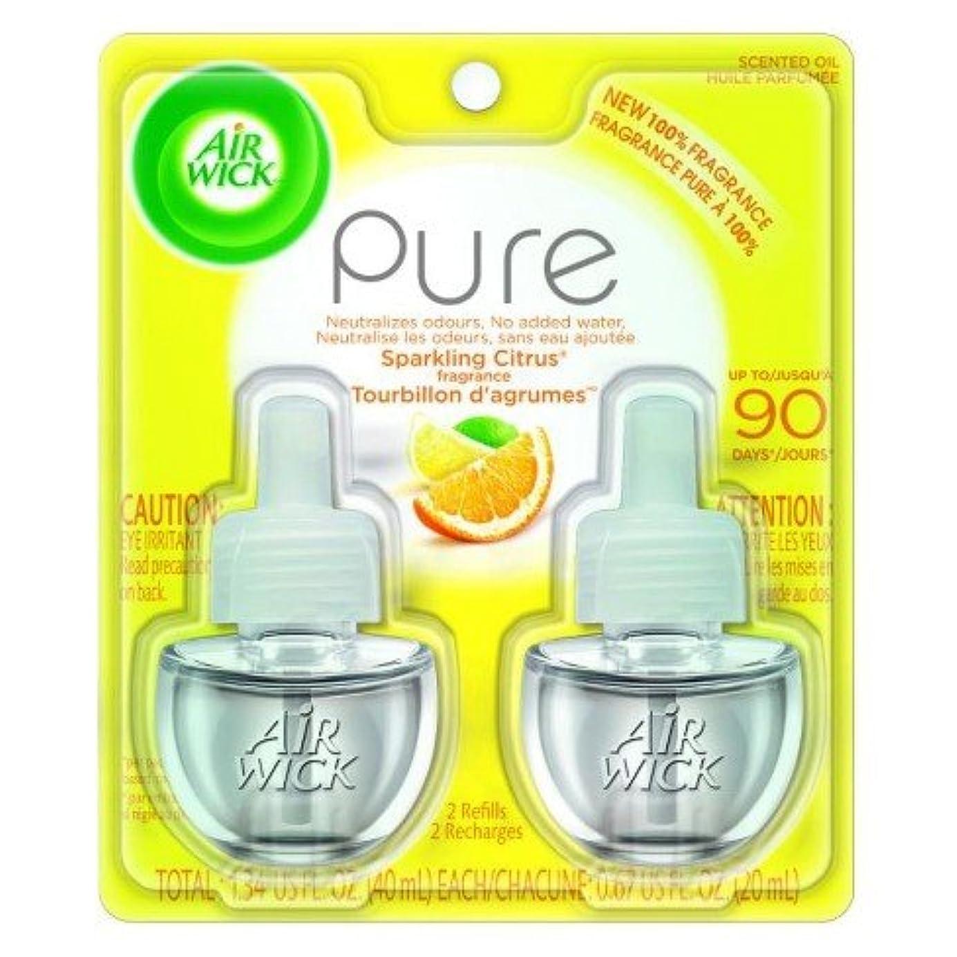 八百屋さん有効な争い【Air Wick/エアーウィック】 プラグインオイル詰替えリフィル(2個入り) スパークリングシトラス Air Wick Scented Oil Twin Refill Pure - Sparkling Citrus (2X.67) Oz. [並行輸入品]
