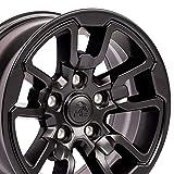 OE Wheels LLC 17 Inch Fits Dodge RAM 1500 Rebel Style DG55 Satin Black 17x8 Rim Hollander 2614 SET