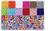 JIEERCUN 4MM Beads de arroz + Conjunto de Cuentas de Letras de inglés de acrílico Bricolaje Collar de Pulsera Accesorios de joyería Perlas Sueltas Joyas (Color : Multi-Colored)