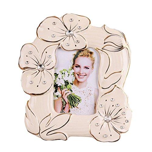 Individualidad Marco europeo de la foto de cerámica, marco creativo de la foto, marco de foto en forma especial, marco de la foto del escritorio del gabinete de la TV del gabinete de cabecera Regalo C