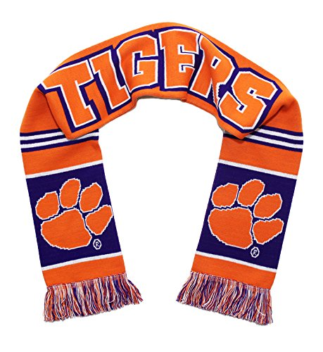 Tradition Scarves Clemson Tigers Scarf - Clemson University Knitted