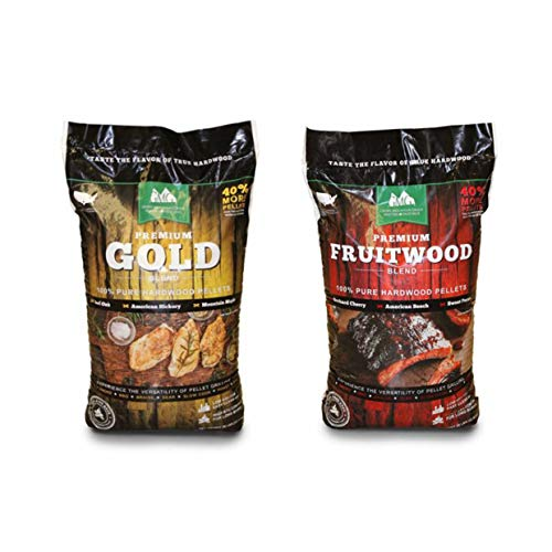 Green Mountain Grills Premium Gold Hardwood Grilling Pellets & Fruitwood Pellets
