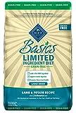 Blue Buffalo Basics Limited Ingredient Diet, Grain Free Natural Adult Large Breed Dry Dog Food, Lamb & Potato 22-lb