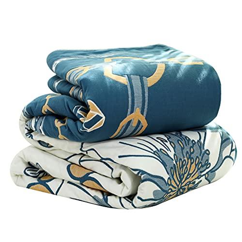 wjmss Manta de sofá, Cubierta de Cama de Ocho Capas de algodón, Manta de Colcha Fresca de Verano para Siesta, Manta de Aire Acondicionado, amigable para la Piel y Transpirable 230 * 250 cm