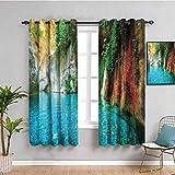 Lake House Decor Collection - Cortina de baño (108 x 84 cm), diseño de laguna natural