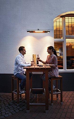 AEG Infrarot-Heizstrahler IR Premium Plus 2000 W mit Halogenspots, hocheffiziente Qualitäts-Goldröhre, nicht-rostend für Terrasse, Garten, Balkon, Gastronomie, 229948 - 8