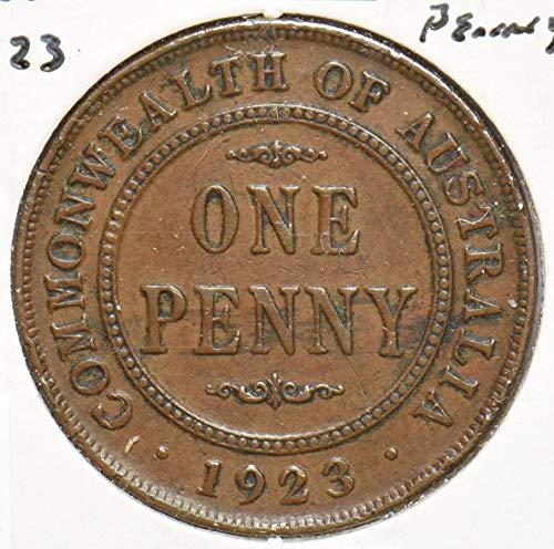 1923 AU Australia 1923 Penny 192587 DE PO-01