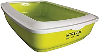 Scream 51-SLT04006 Rectangle Litter Tray, Loud Green, 50x35x14cm