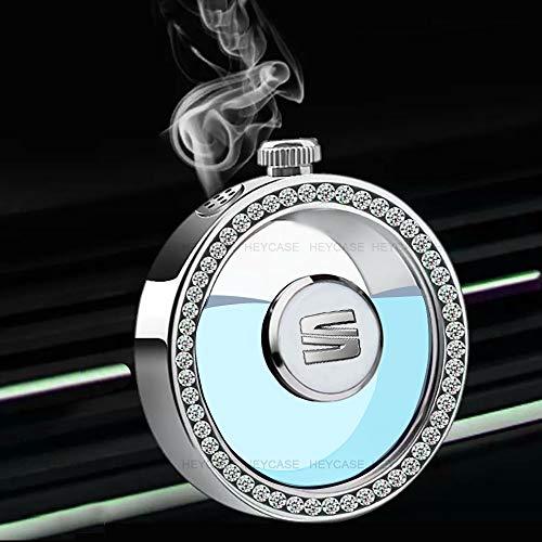 HEYCASE Difusor de Ambientador de Coche Logo con Diamante, Fragancia del Lanzamiento de la Botella de Perfume del Mercado de...