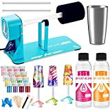LFSUM Cup Turner for Crafts Tumbler Cup Spinner Machine Kit, Wood Cuptisserie Turner DIY Glitter Epoxy Tumblers (Tiffany)