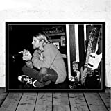 baiyinlongshop Leinwandbild Kurt Cobain Rockmusik Band