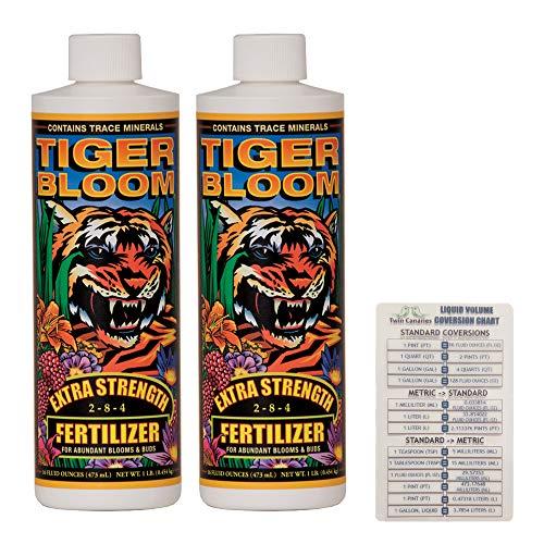 FoxFarm Tiger Bloom, 16 oz (2 Pack) + Twin Canaries Chart