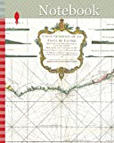 Notebook: 1765, Bonne Map of West Africa, the Gulf of Guinea, and Benin, Rigobert Bonne 1727 – 1794, one of the most important cartographers of the late 18th century