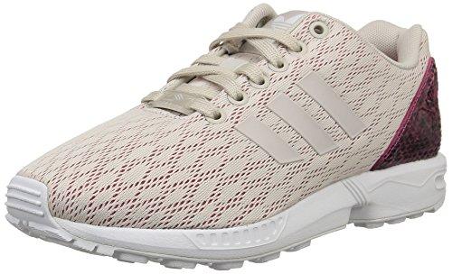 adidas Originals ZX Flux B35318, Damen Low-Top Sneaker, Grau (Pearl Grey S14/Pearl Grey S14/Joy Pink S13), EU 38