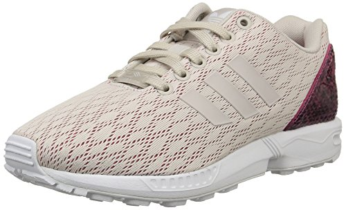 adidas Originals ZX Flux B35318, Damen Low-Top Sneaker, Grau (Pearl Grey S14/Pearl Grey S14/Joy Pink S13), EU 39 1/3