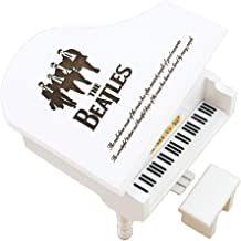 The Beatles Music Box Windup Engraved Wood Piano Musical Box,Musical Gift,Play Let it Be,White