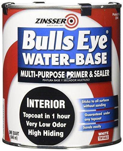 Zinsser 2244 Bulls Eye WB Primer Sealer, 1 Quart, White