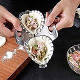 XIAN Stainless Steel Fast Double Dumpling MakerTool,Best Utensils Stainless Steel Ravioli Mould Pierogi Dumpling Maker Wrapper Pastry Dough Cutter Kitchen Accessories