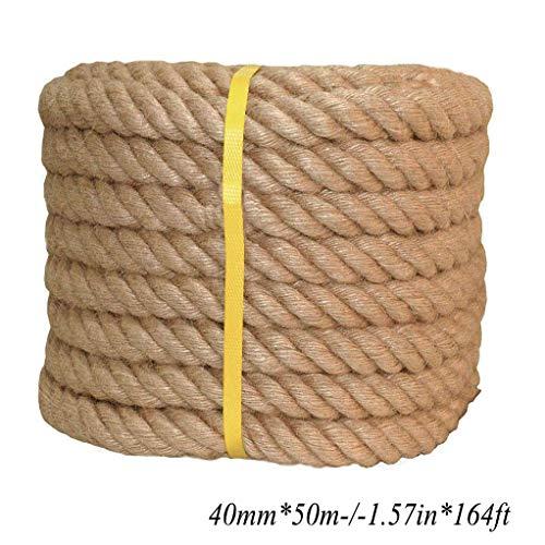 HQYMP Twisted Sisal RopeAll natuurlijke vezels - vocht/weerbestendig - Marine, Decor, Projecten, Krabpaal voor katten, Tie-Downs, Rieten stoel, Outdoor