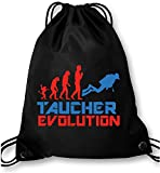EZYshirt Taucher Evolution Turnbeutel