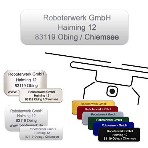 Roboterwerk Segno di Droga in Vetro – Titanio – Alluminio con cartellino Pilota Drone Targa ignifuga/Marca/Drone Targa.