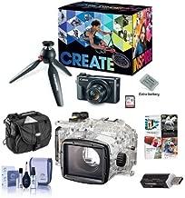 Canon PowerShot G7 X Mark II Video Creator Kit - Bundle WP-DC55 Waterproof Case - Camera Case, Cleaning Kit, Card Reader, Software Package