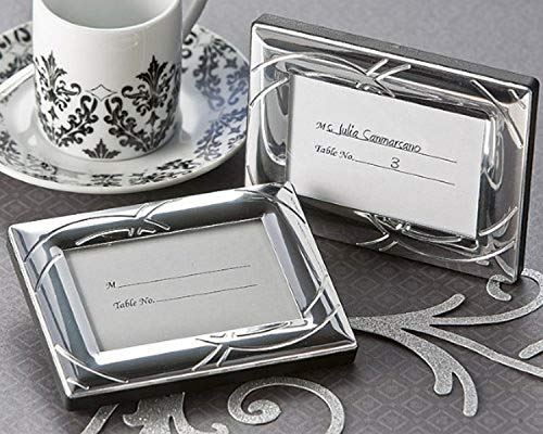 "Artisano Designs ""Double Ring Romance Photo Frame/Place Card Holder, Mini"
