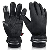 Winter Gloves for Men Waterproof and Touch Screen Fingers Insulated...