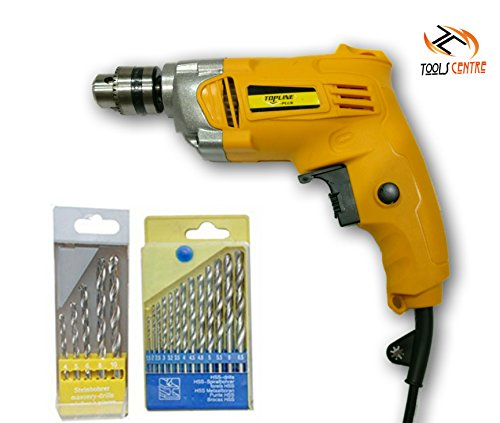Buy TOOLSCENTRE 10mm Half Metal Body Drill Machine Reverse/Forward & Speed Control Facility with Dri...