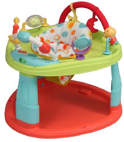 Base de actividades y de estimulación para bebés, asiento giratorio de 360°, multiposiciones, 6 juegos de música CA0 multicolor