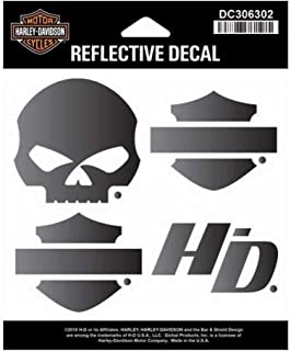 Harley-Davidson Night Rider Reflective Logo Decal Set, SM Size DC306302