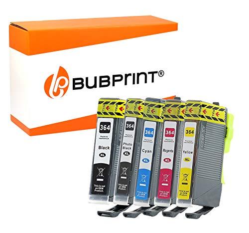 5 Bubprint Druckerpatronen kompatibel für HP 364XL für DeskJet D5460 PhotoSmart 7510 7520 e-All-in-One B8550 C5324 C5380 C6324 C6380 Premium C309g C310a C410 C410b Fax C309a