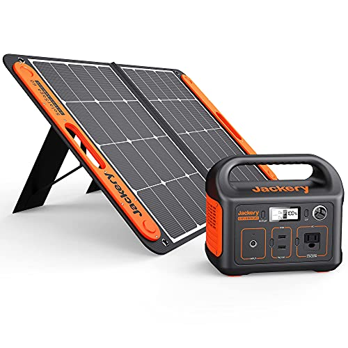 Jackery Solar Generator 240, 240Wh Backup Lithium Battery, 110V/200W Pure Sine Wave AC Outlet, Solar Generator for Outdoors Camping Travel Hunting Emergency