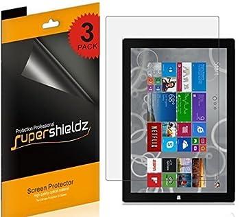 3 Pack  Supershieldz Designed for Microsoft Surface Pro 3 Screen Protector Anti Glare and Anti Fingerprint  Matte  Shield