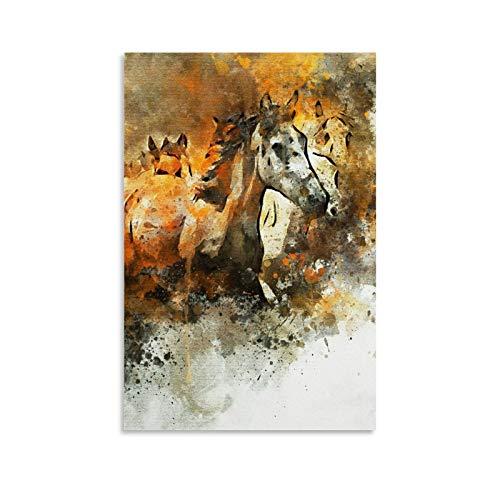 jiandan Cuadro artístico de cuadros de caballos galopantes y arte de pared, impresión moderna para decoración de dormitorio familiar, 50 x 75 cm