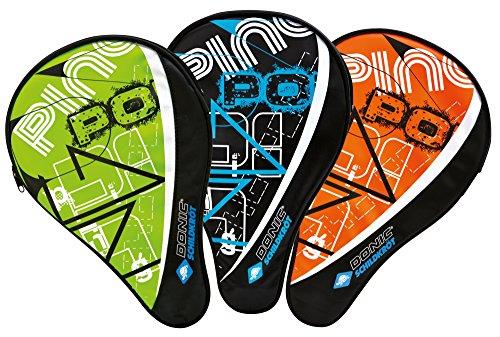 Donic-Schildkröt Funda para Raqueta de Tenis de Mesa Classic, Compartimiento para 3 Pelotas, Multicolor, 818506