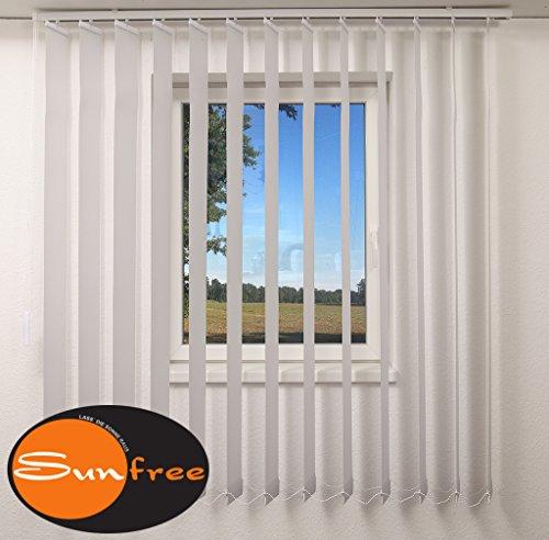 Sunfree Vertikal Lamellen Vorhang Farbe grau Breite 100 cm Höhe 250 cm