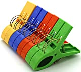 HAZOULEN Set of 8 Beach Bath Towel Clips in 4 Fun Bright Colors for Beach Chair or Pool Loungers on Your Cruise