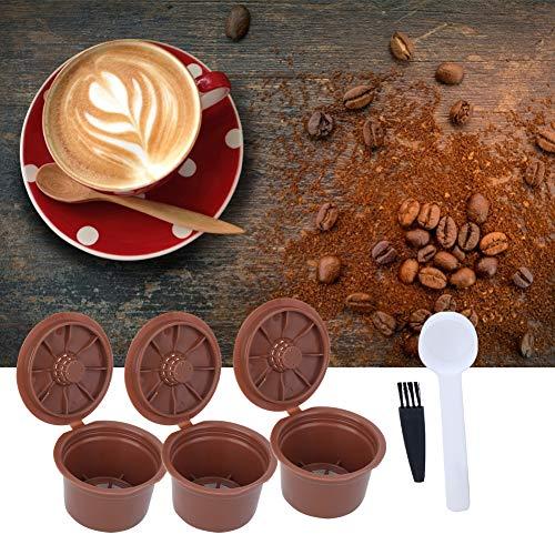Cápsulas de café reutilizables Filtro Cápsula de café recargable Taza de cápsula Filtro de malla integrado Cepillo Cuchara Kit Accesorio para Caffitaly